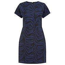 Buy Warehouse Zebra Jacquard Dress, Multi Online at johnlewis.com