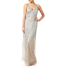 Buy Adrianna Papell Beaded Spaghetti Strap Gown, Nude Online at johnlewis.com