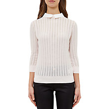Buy Ted Baker Scallop Collar Jumper, Baby Pink Online at johnlewis.com
