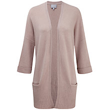 Buy Pure Collection Textured Longline Cashmere Cardigan, Iced Frappe Online at johnlewis.com