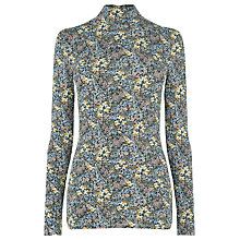 Buy Warehouse Garden Posie Polo Top, Multi Online at johnlewis.com