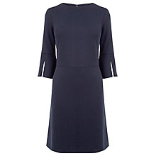 Buy Warehouse Split Cuff Ponte Dress, Navy Online at johnlewis.com