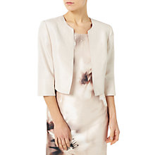 Buy Jacques Vert Petite Shantung Bolero, Mid Neutral Online at johnlewis.com