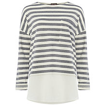 Buy Phase Eight Sian Stripe Top, Navy/Ivory Online at johnlewis.com