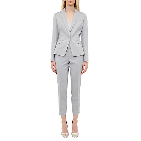 Buy Ted Baker Radiia Topstitch Detail Blazer, Light Grey Online at johnlewis.com