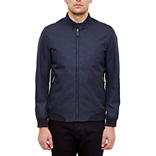Buy Ted Baker Apollo Mouline Bomber Jacket, Navy Online at johnlewis.com