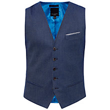Buy Ted Baker Wingwai Modern Fit Waistcoat, Bright Blue Online at johnlewis.com