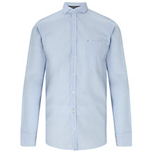 Buy BOSS Orange Cattitude Seersucker Stripe Slim Fit Shirt, Open Blue Online at johnlewis.com