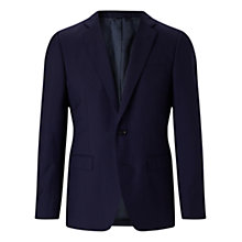 Buy Jigsaw Ottoman Woven in Italy Slim Suit Jacket, Navy Online at johnlewis.com