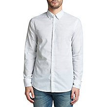Buy BOSS Orange Epreppy Slim Fit Striped Cotton-Linen Shirt, White Online at johnlewis.com