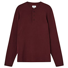 Buy Jigsaw Jersey Cotton Henley Top Online at johnlewis.com