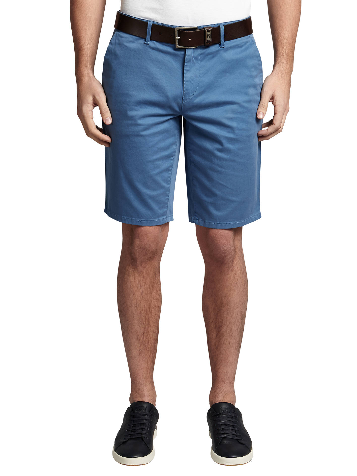 be5b254f Buy BOSS Orange Schino-Slim 1-D Slim Fit Chino Shorts, Open Blue ...