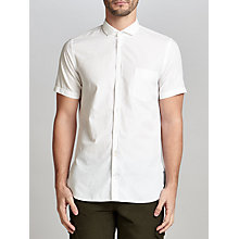 Buy BOSS Orange Cattitude Short Sleeve Cotton Poplin Shirt, White Online at johnlewis.com