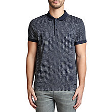 Buy BOSS Orange Palex Printed Polo Shirt, Dark Blue Online at johnlewis.com