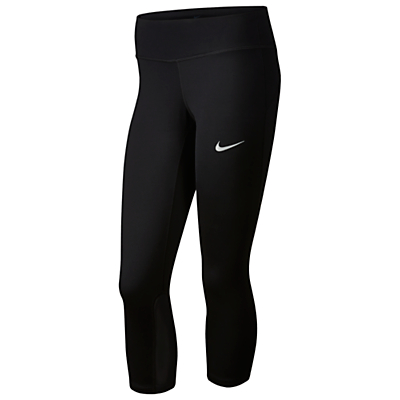 Nike Power Epic Run Cropped Running Tights, Black