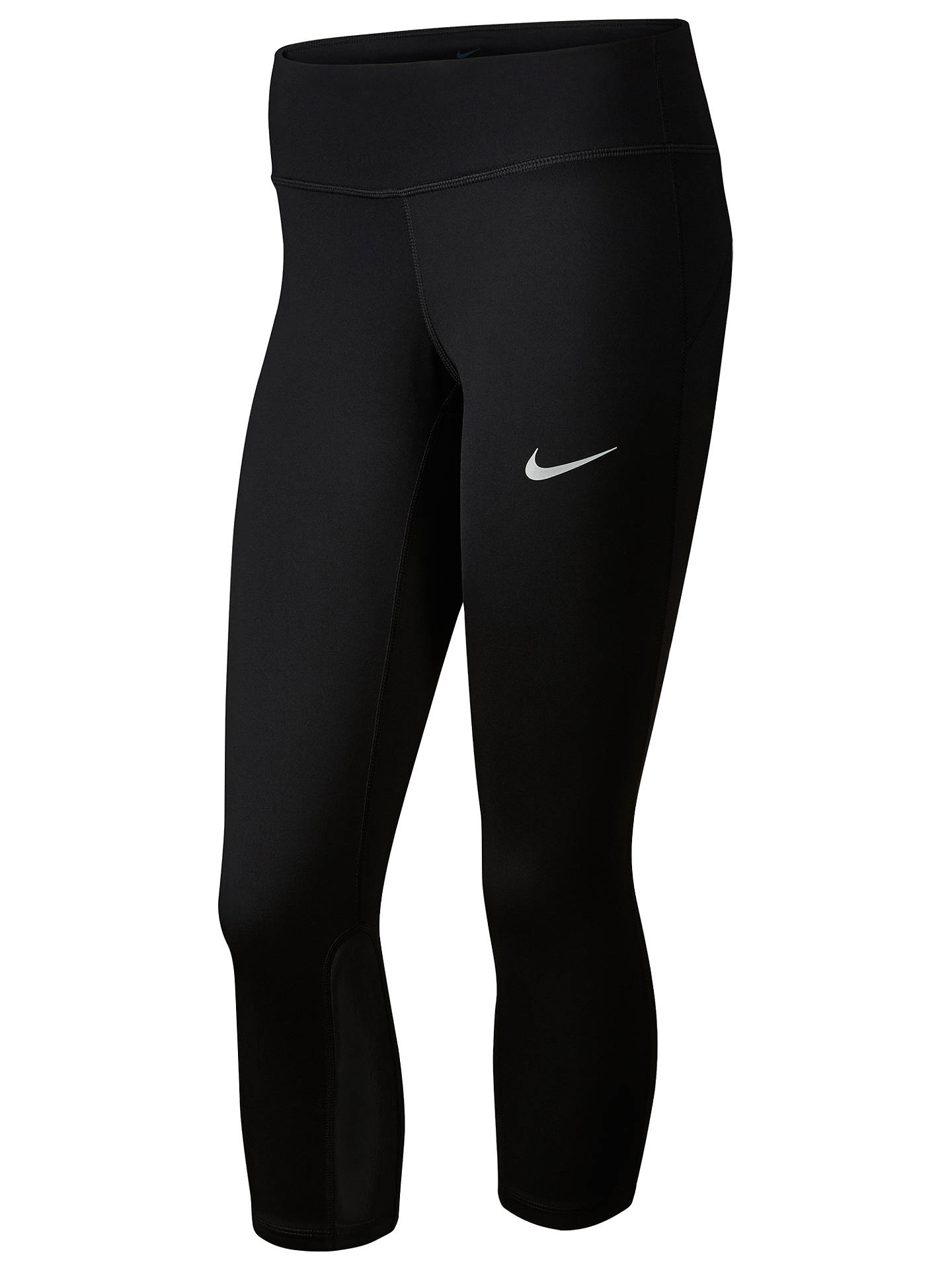 8e24a814788ffc Buy Nike Power Epic Run Cropped Running Tights, Black, XS Online at  johnlewis.