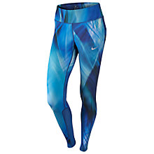 Buy Nike Power Epic Running Tights, Light Photo Blue/Black Online at johnlewis.com