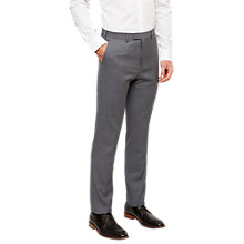 Buy Ted Baker Tippedj Wool Semi Plain Tailored Suit Trousers, Grey Online at johnlewis.com