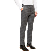 Buy Ted Baker Pidginj Wool Check Tailored Suit Trousers, Grey Online at johnlewis.com