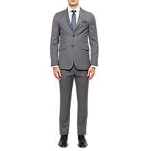 Buy Ted Baker Tippedj Wool Semi Plain Tailored Suit Jacket, Grey Online at johnlewis.com