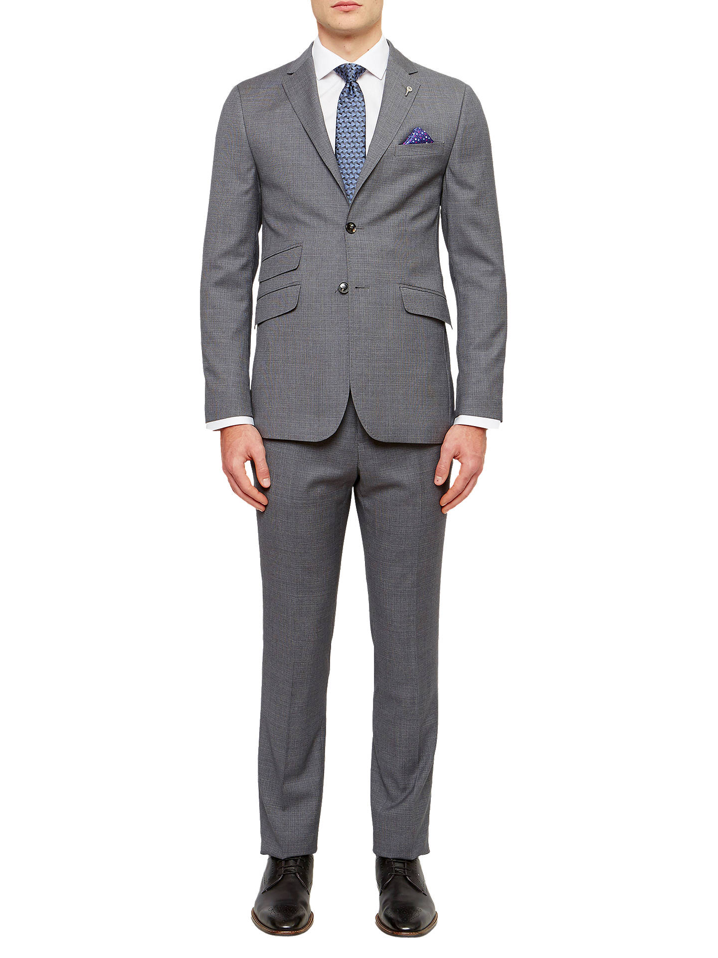 86f90c2a9cbb Buy Ted Baker Tippedj Wool Semi Plain Tailored Suit Jacket