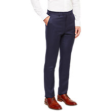 Buy Ted Baker Chalkyt Wool Birdseye Tailored Suit Trousers, Dark Blue Online at johnlewis.com