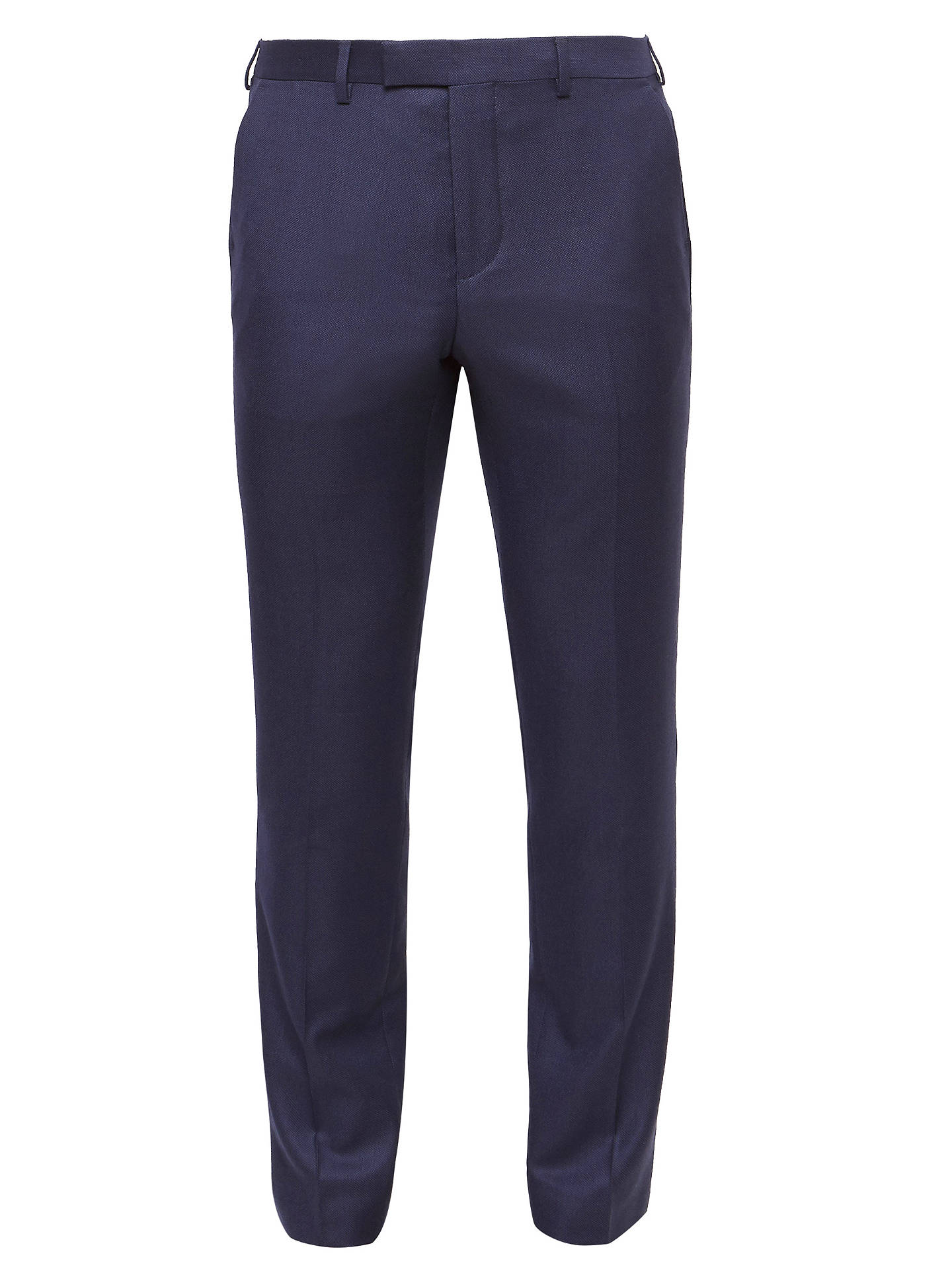 BuyTed Baker Chalkyt Wool Birdseye Tailored Suit Trousers, Dark Blue, 32S Online at johnlewis.com