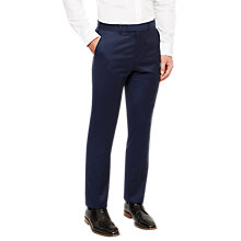 Buy Ted Baker Berimat Wool Flannel Tailored Suit Trousers, Navy Online at johnlewis.com
