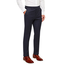 Buy Ted Baker Dahlt Wool Check Tailored Suit Trousers, Blue Online at johnlewis.com