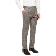 Buy Ted Baker Hemplet Tailored Fit Check Suit Trousers, Grey Online at johnlewis.com