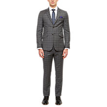 Buy Ted Baker Pidginj Wool Check Tailored Suit Jacket, Grey Online at johnlewis.com