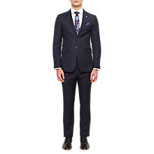 Buy Ted Baker Romarj Pindot Wool Tailored Suit Jacket, Navy Online at johnlewis.com