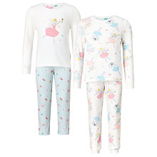 Buy John Lewis Children's Fairy Pyjamas, Pack of 2, Pink/White Online at johnlewis.com