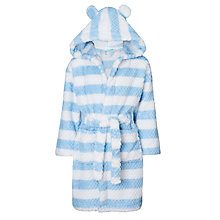 Buy John Lewis Children's Colour Block Stripe Robe, Blue Online at johnlewis.com