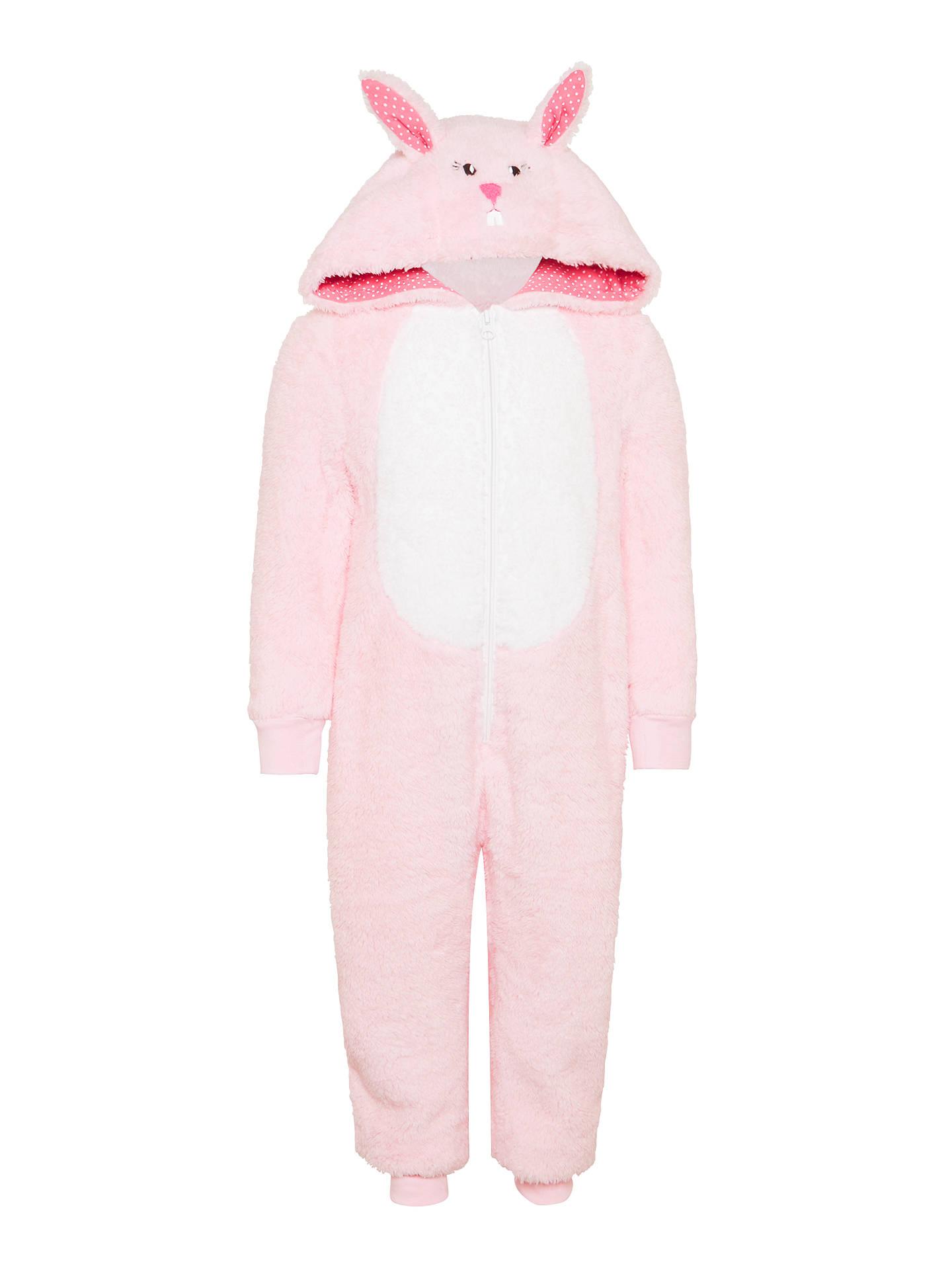 buyjohn lewis childrens bunny onesie pink 3 years online at johnlewis