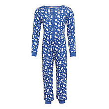 Buy John Lewis Children's Floral Mouse Print Onesie, Navy Online at johnlewis.com