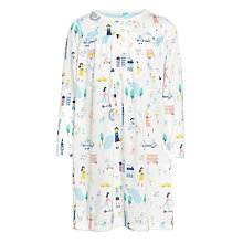 Buy John Lewis Children's Park Day Long Sleeved Night Dress, White/Multi Online at johnlewis.com