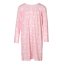 Buy John Lewis Children's Floral Mouse Long Sleeved Night Dress, Pink Online at johnlewis.com