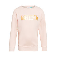 Buy John Lewis Children's Shine Sweatshirt, Cameo Rose Online at johnlewis.com