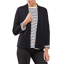 Buy Jigsaw Milano Pleat Back Jacket, Dark Navy Online at johnlewis.com