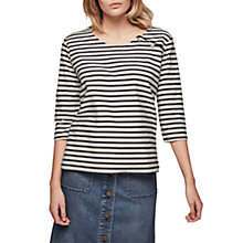 Buy Gerard Darel Taylor Striped T-Shirt, Beige / Navy Online at johnlewis.com