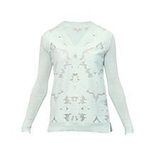 Buy Ted Baker Petli Burnout Front Jumper, Mint Online at johnlewis.com
