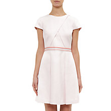 Buy Ted Baker Colour By Numbers Heltty Cap Sleeve Semi Fitted Dress, Nude Pink Online at johnlewis.com