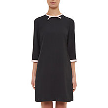 Buy Ted Baker Colour By Numbers Elanore Tie Neck Dress, Mid Grey Online at johnlewis.com