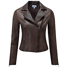 Buy Pure Collection Paloma Biker Jacket, Mole Online at johnlewis.com
