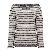 Buy White Stuff Swift Stripe Knit, Natural Online at johnlewis.com