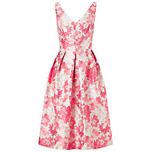 Buy Miss Selfridge Jacquard Prom Dress, Pink Online at johnlewis.com