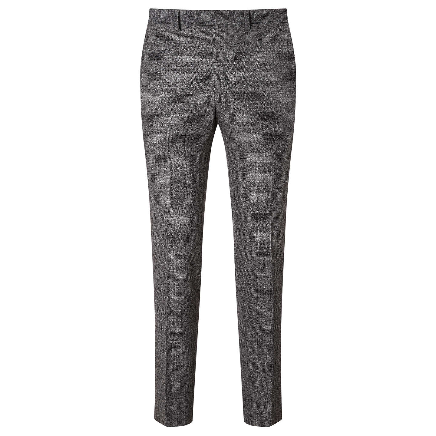 BuyKin by John Lewis Elm Check Slim Fit Suit Trousers, Charcoal, 30S Online at johnlewis.com