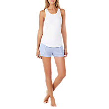 Buy DKNY Stripe Tank Top and Short Pyjama Set, White/Light Blue Online at johnlewis.com