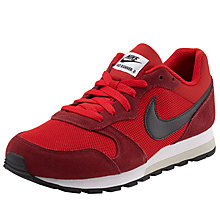 Buy Nike MD Runner 2 Trainers, Red/Black Online at johnlewis.com